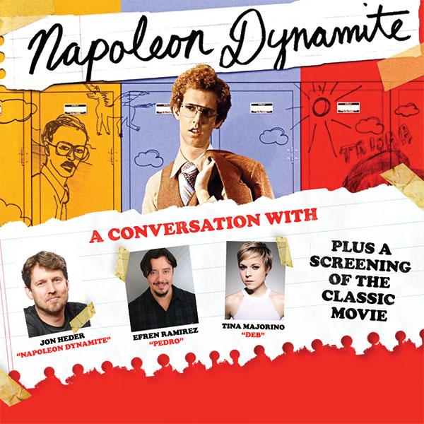 Napoleon Dynamite: A Conversation with Jon Hader, Efren Ramirez & Tina Majorino at St Augustine Amphitheatre