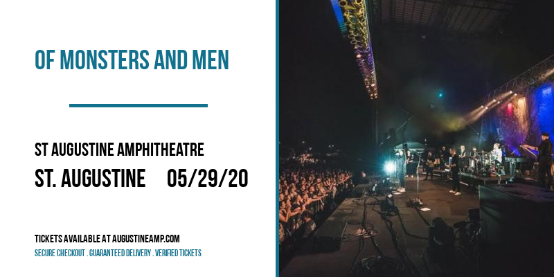 Of Monsters and Men [POSTPONED] at St Augustine Amphitheatre