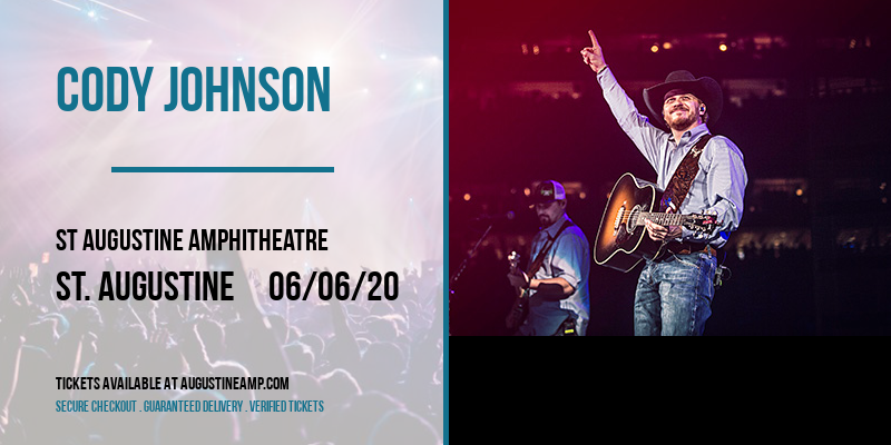 Cody Johnson at St Augustine Amphitheatre