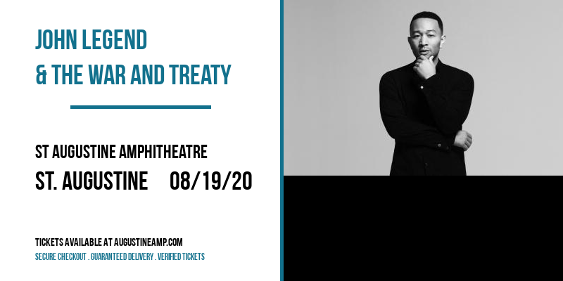 John Legend & The War and Treaty [CANCELLED] at St Augustine Amphitheatre