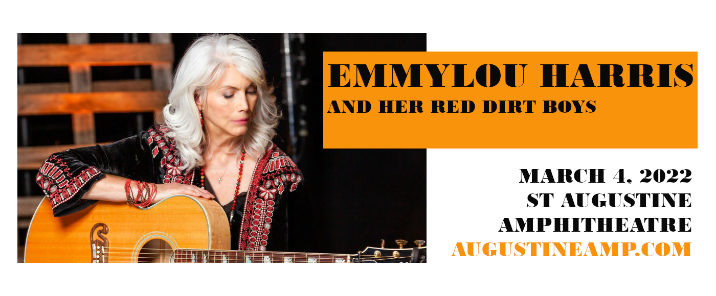 Emmylou Harris And Her Red Dirt Boys at St Augustine Amphitheatre