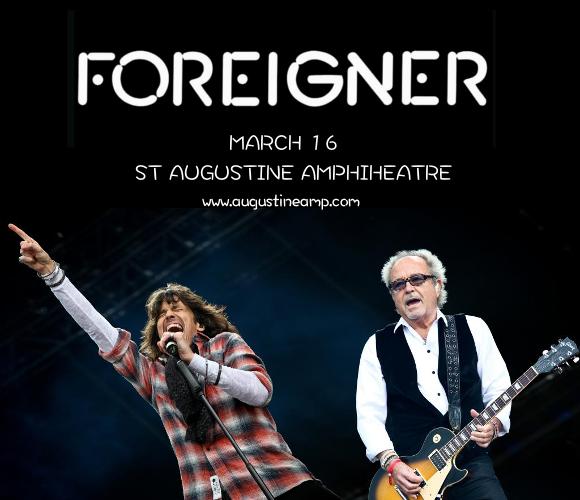 Foreigner & Dave Eggar Orchestra at St Augustine Amphitheatre