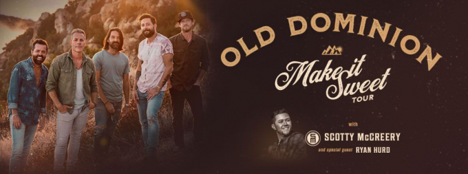 Old Dominion, Scotty McCreery & Ryan Hurd at St Augustine Amphitheatre