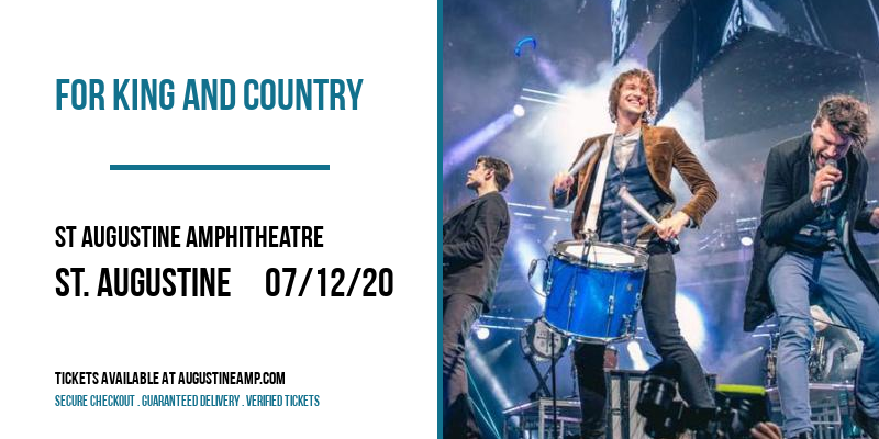 For King and Country at St Augustine Amphitheatre