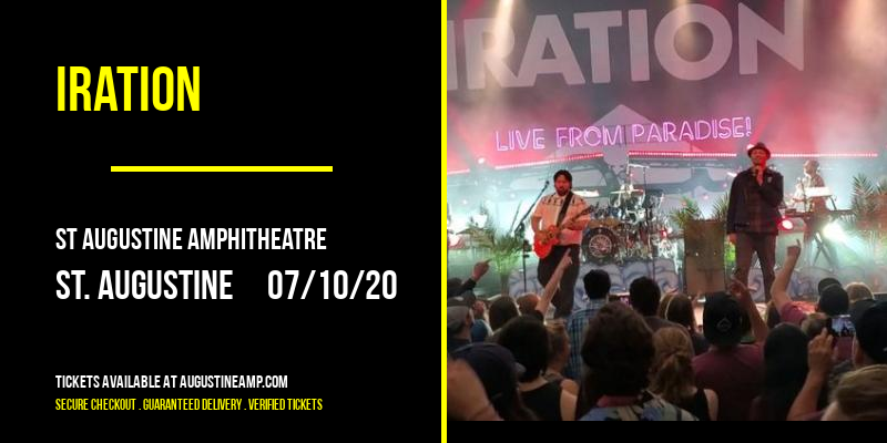Iration [CANCELLED] at St Augustine Amphitheatre